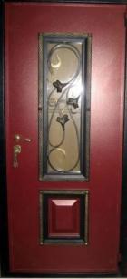Декоративная отделка со стеклопакетом и c ковкой №120