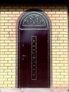 Арочная стальная дверь